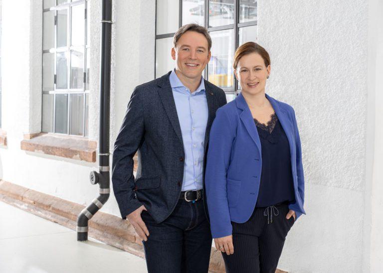 CEO Corinna Pfaff und Andreas Buff