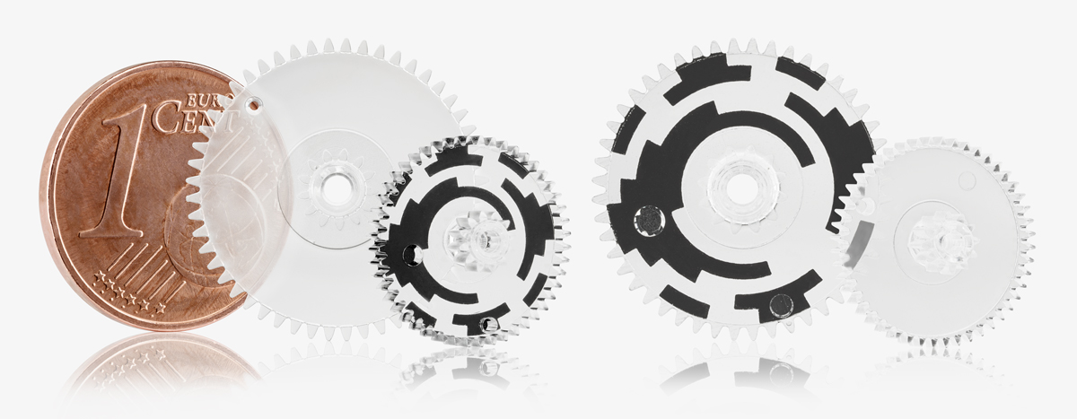 Optische Zahnräder für die Antriebstechnik aus PC